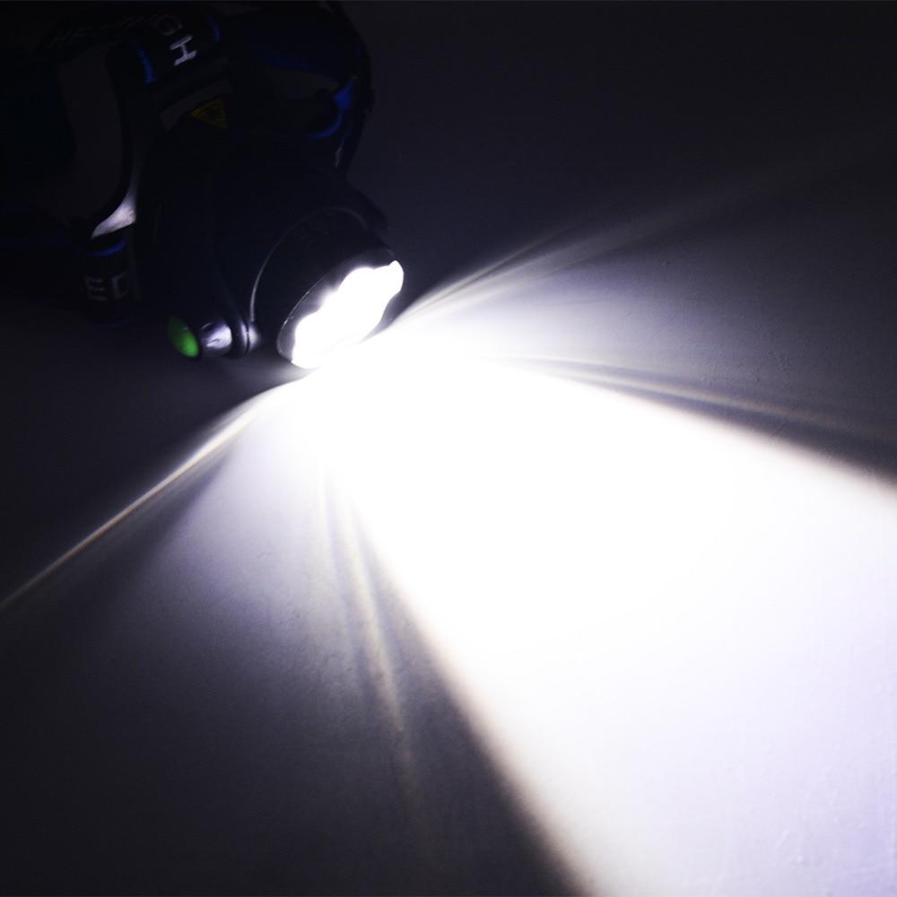 Ыстық HP79 Head light Т6 бас лампасы 3000LM - Портативті жарықтандыру - фото 6