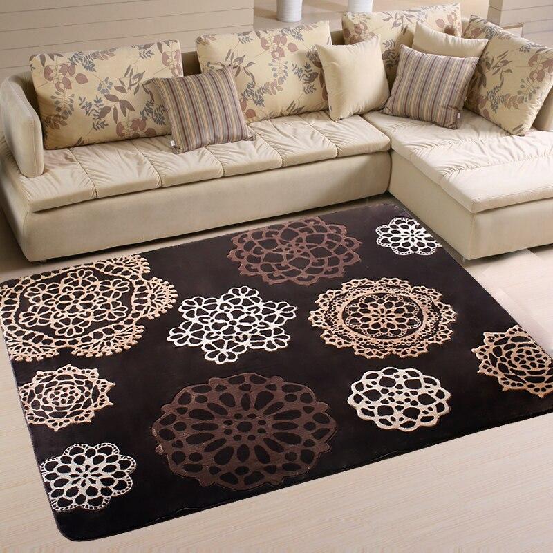Raschel tapis abstrait fleur tapis lit couvertures style japonais rustique