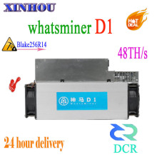 Newest Asic DCR Miner WhatsMiner D1 48TH/S With PSU Better Than Antminer DR3 DR5 Z9 Mini S9 Innosilicon D9 FFMINER D18 STU-U1