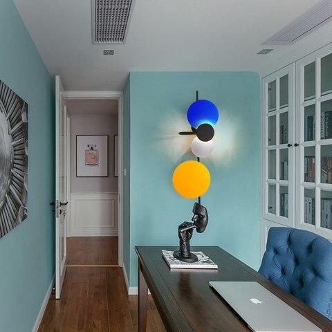 luz parede luzes do corredor personalidade criativa quarto lampadas led