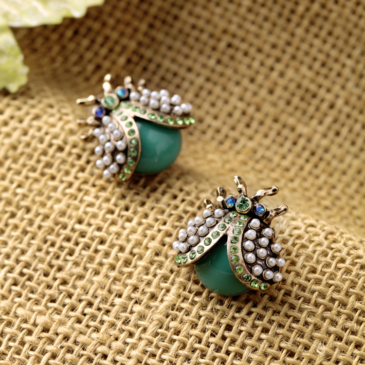 2015 Fashion Jewelry for Women Hot Sale New Item Insect Small Earrings