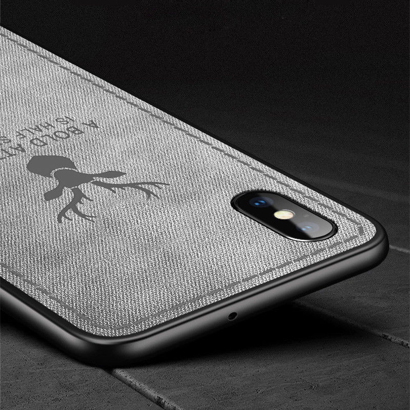 Luxury Canvas Fabric Texture Shockproof Case Cover For iPhone XS Max XR X 7 8 6 6s Plus Retro Back Cover Christmas Gifts