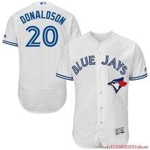 83f5092c MLB Men's Toronto Blue Jays Josh Donaldson Baseball Home White Flex Base  Authentic Collection Player Jersey