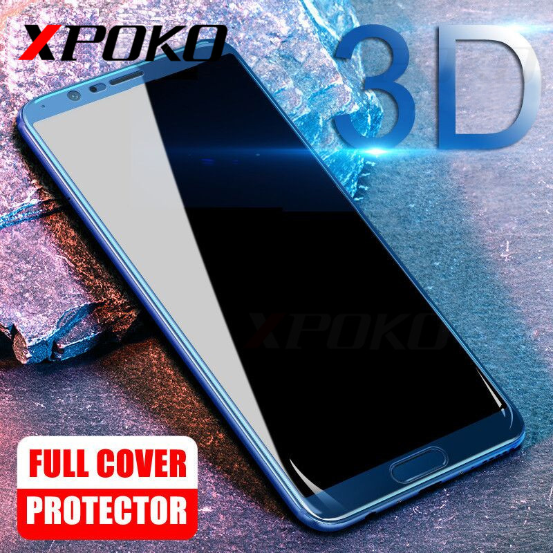XPOKO 3D Tempered Glass For Huawei Honor 8 Lite Honor 9 Lite Honor 10 Full Cover Screen Protective For Huawei Honor 10 V10 Glass