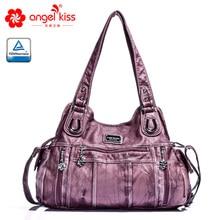 Angel Barcelo Casual Tote Handbags Soft Roomy Multiple Pockets Street Travel Crossbody Bags 0059Z