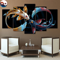 Eternal Bond Black by JoJoesArt HD print 5 piece canvas art Cryprinus Carpiod fish Poster Room Wall Pictures Poster CU-3088C