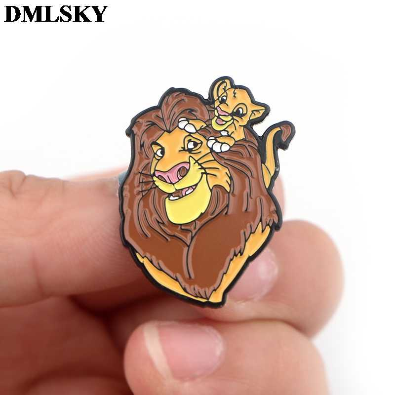 Dmlsky Fashion Kreatif Tema Kartun Pin Logam Enamel Bros untuk Wanita Pria Lapel Pin Ransel Lencana Denim Pin M3671