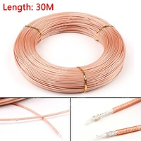 Areyourshop Sale 3000CM RG316 RF Coax Coaxial cable Connector 50ohm M17/113 Shielded Pigtail 98ft W