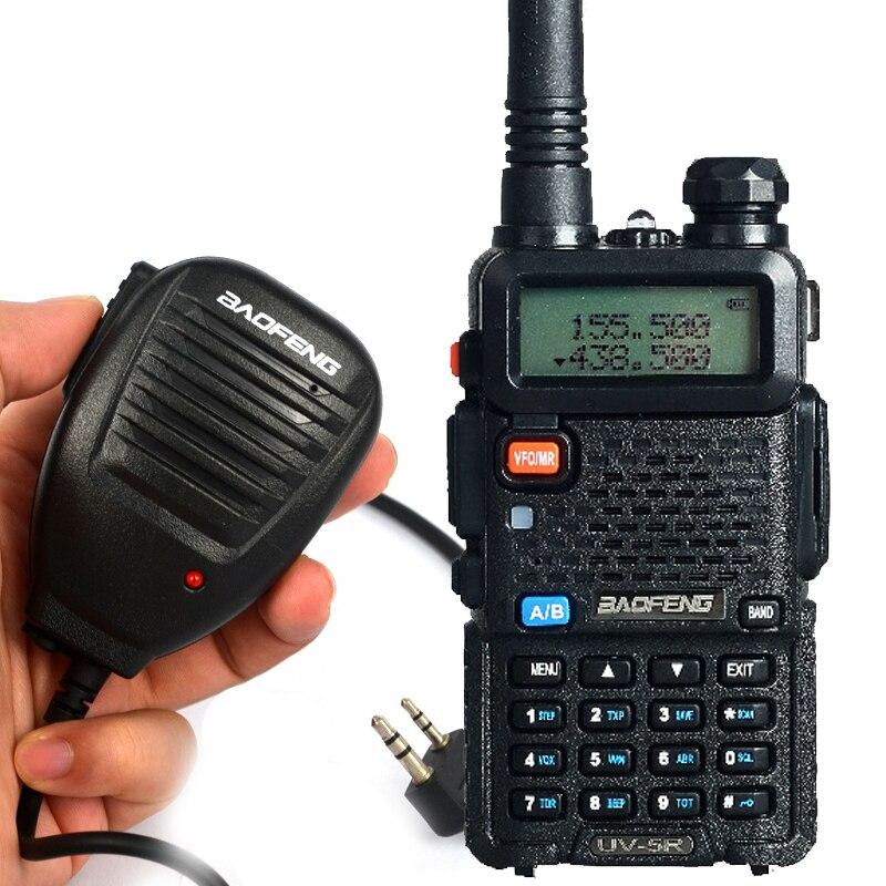 Handheld Microphone Add BAOFENG UV 5R Walkie Talkie Two Way Radio