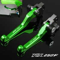 Para Kawasaki KX250F 2004-2018 KX250 KX 250 F 250F CNC motocicleta para motor de dirt Bike bicicleta moto de cross motocross Pivot freno embrague palancas