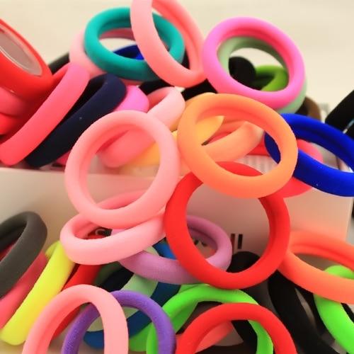 #AD0043 50pcs/lot 2cm/4cm Hair rubber band accessories cheapest rezinochki wholesale fluorescence candy colors hair elastics