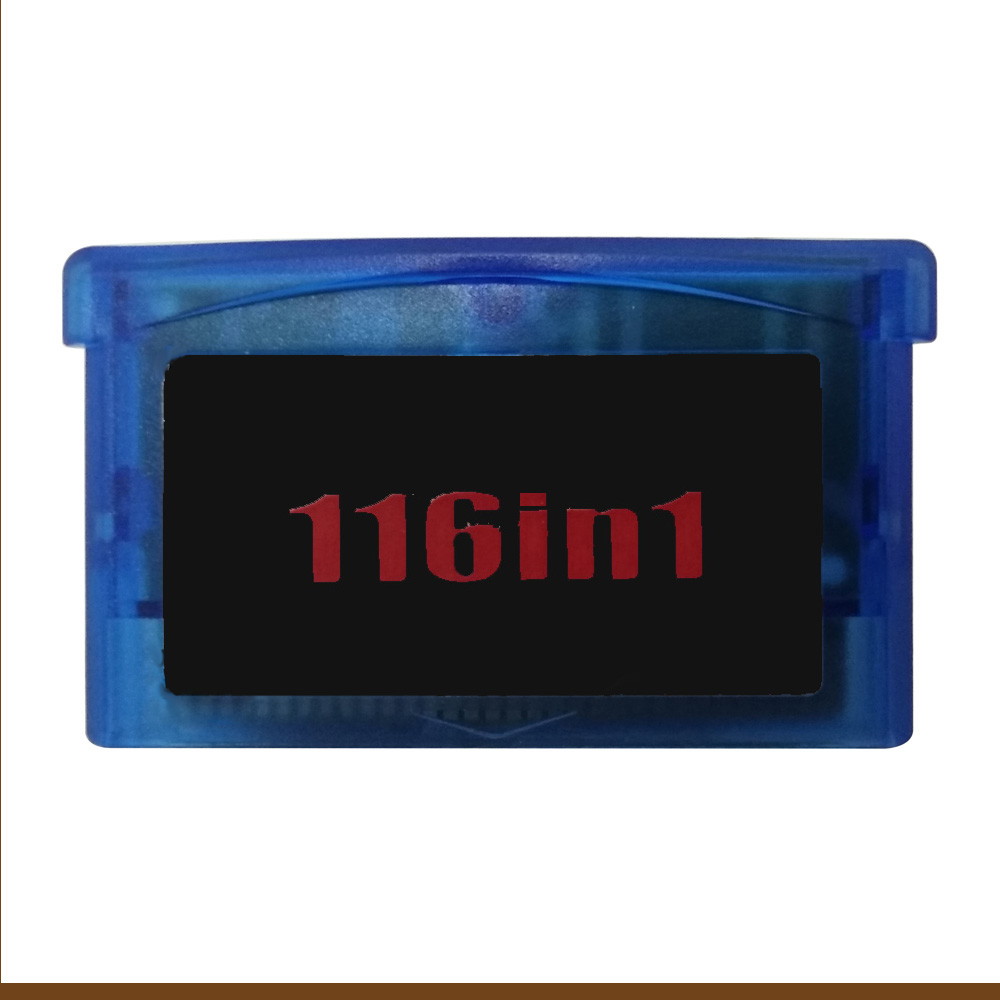 1PCS For Nintendo GBA games card Compact for Video Game Console game card 116 in 1 8bit game card