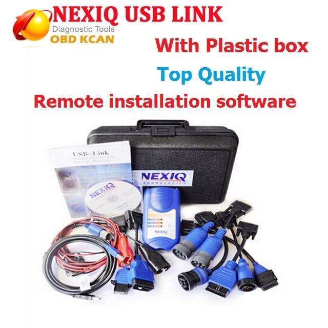 Best NEXIQ 125032 USB Link + Software Diesel Truck Diagnose NEXIQ USB Link 125032 With All Installers Auto Scanner Nexiq 125032
