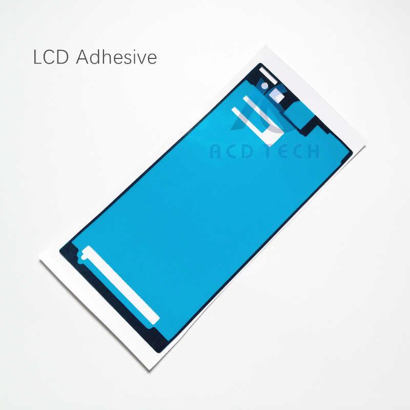 عالية الجودة جديد الجبهة LCD الإطار الأوسط غطاء البطارية مجموعة كاملة لاصق ملصق مضاد للمياه لسوني اريكسون Z1 L39H C6903