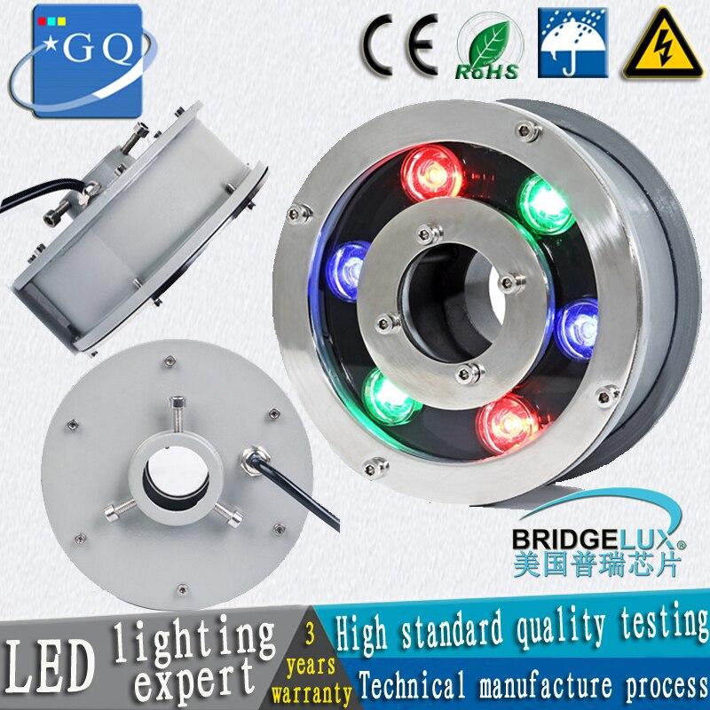 Fedex DHL 5pcs/lot 9W LED underwater Fountain lamp Light American chip Bridgelux 45mil stainless steel DC12V 24V OR AC85-265V цена