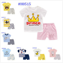 Baby Boys Girls Summer Clothes Fashion Cotton Set Printed Fruit Sports Suit For T-shirt +Shorts Children's Clothing kids child(China)