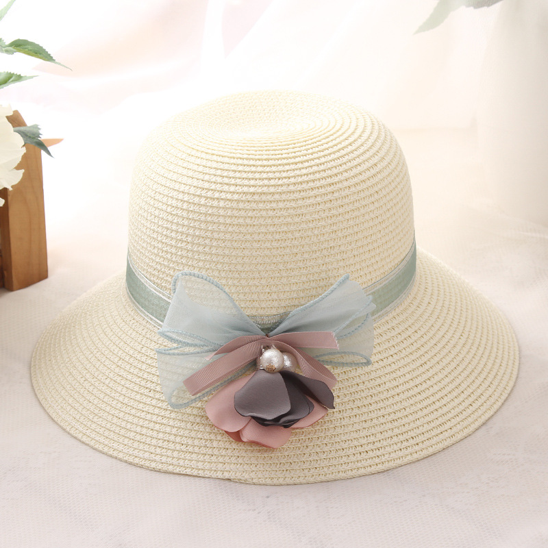 HSS marca 2017 Nuevo damas arco sombrero de paja sombreros de viaje ... 88fa45cae9c
