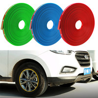 8M Universal Car Tyre Rim Stickers Tire Protection Decoration Automobile Hub Wheel Stickers Protector Decors Car