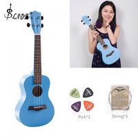 23 Inch Colorful Ukulele Hawaii Four String Guitar Ukelele + String + Pick Suitable for Both Beginners & Children