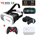 "Original Google Cardboard VR BOX II 2.0 VR Virtual Reality 3D Glasses For 4""-6"" Smartphone + Game Bluetooth Gamepad"