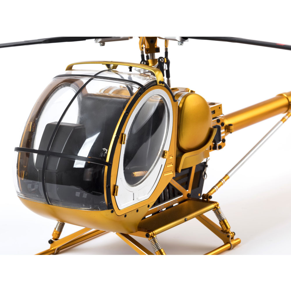 SCHWEIZER Hughes 300C Scale 9CH RC Helicopter Brushless RTF All Metal high Simulation Remote Control Helicopter Aircraft Mode 2