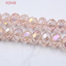140 шт./лот 4 мм сверкающие AB Цвет граненое стекло кристалл рондели разделительные бусины на выбор 18 цветов