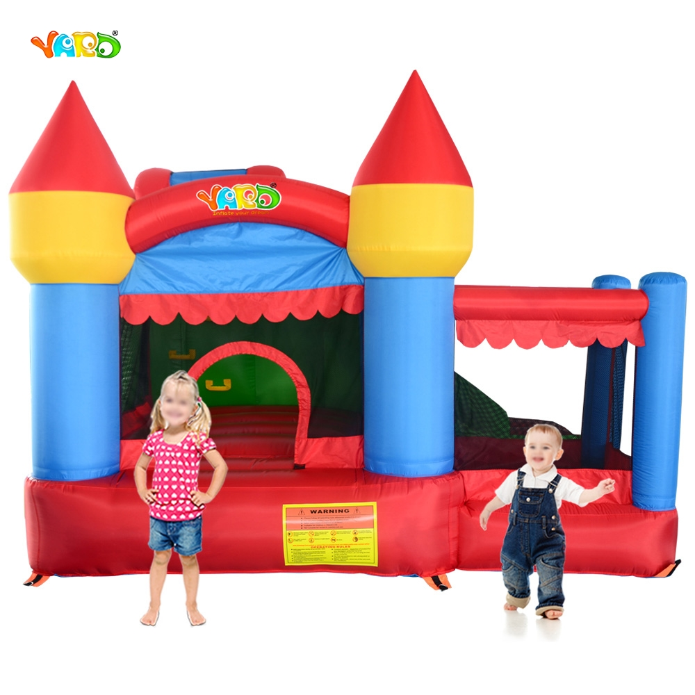 YARD Free Shipping 6 in 1 All-round Inflatable Bouncer Giant Bouncy Castle Obstacle Combo For Family Party yard free shipping bouncy dream castle inflatable jumper bouncer 6 in 1 all round obstacle combo for home use