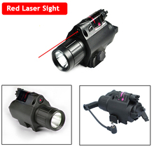 Good Quality LED Flashlight Red Dot Laser 20mm Rail Shooting Hunting Airsoft Air Gun Optical Red Dot Laser Sight