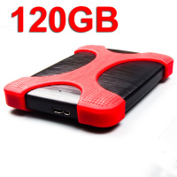 USB 3.0 HDD 120GB Portable Hard Disk External Storage Drive (Anti Shock Protection Bag & Case Included ) for TV Laptop Computer