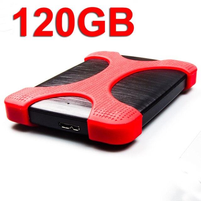 Unidad de almacenamiento externa de disco duro portátil USB 3,0 HDD 120 GB (bolsa y funda de protección antigolpes incluidos) para ordenador portátil de TV