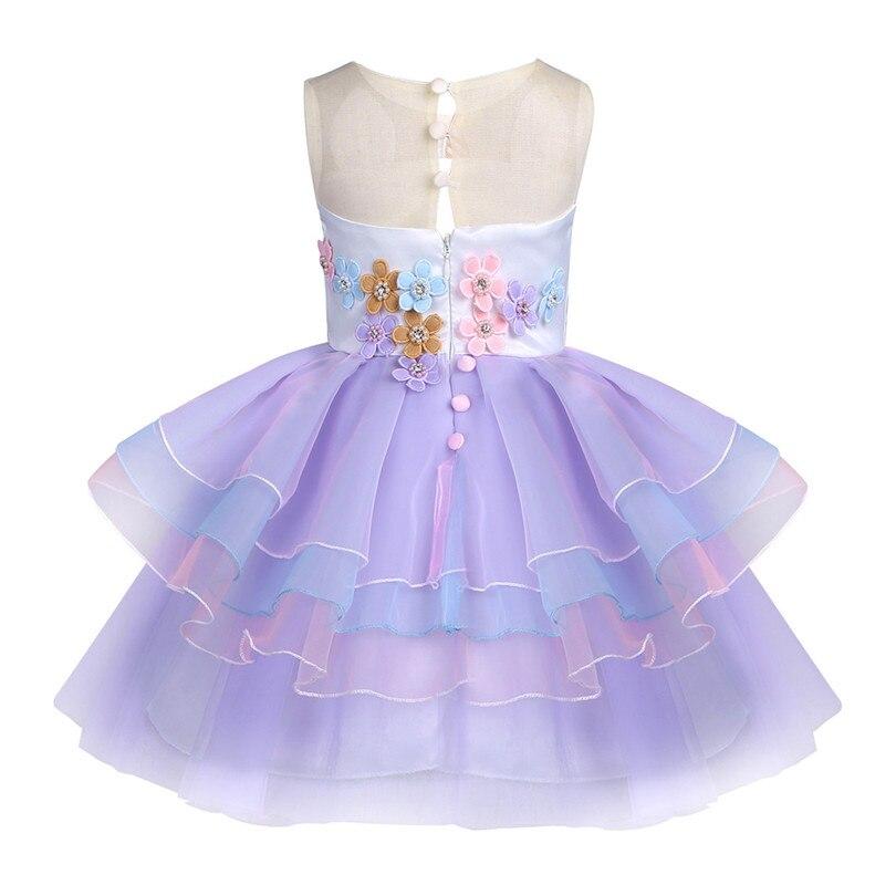 Aliexpress.com: Comprar 6M 10 años niñas vestido de dibujos animados bordado rebordear flor Gauzze princesa vestido niños ropa del cumpleaños del ...