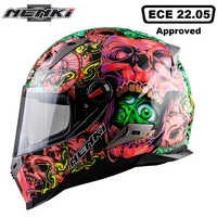 NENKI Motorcycle Helmet Touring Motorbike Helmet Racing Street Moto Casco Men Women Chopper Scooter Cruiser Full Face Helmet ECE