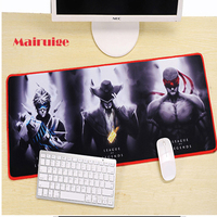 Custom Oversize Blue Background Animal Puppy Game Mouse Mat Lock Edge Computer Keyboard Table Mat Suitable