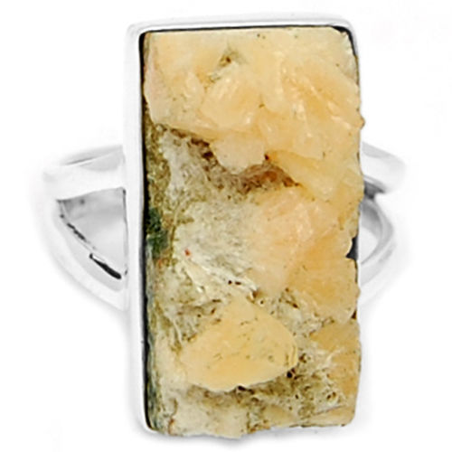 Hand make  Guarantee Nature Apophylite Ring 100% 925 Sterling Silver, 5.8G, Size: 6.5 , Gift BOX, KR0032