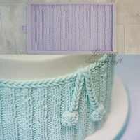 Yueyue Sugarcraft вязание шерсти силиконовая форма помадка кружева формы украшения торта инструменты форма для шоколадной мастики