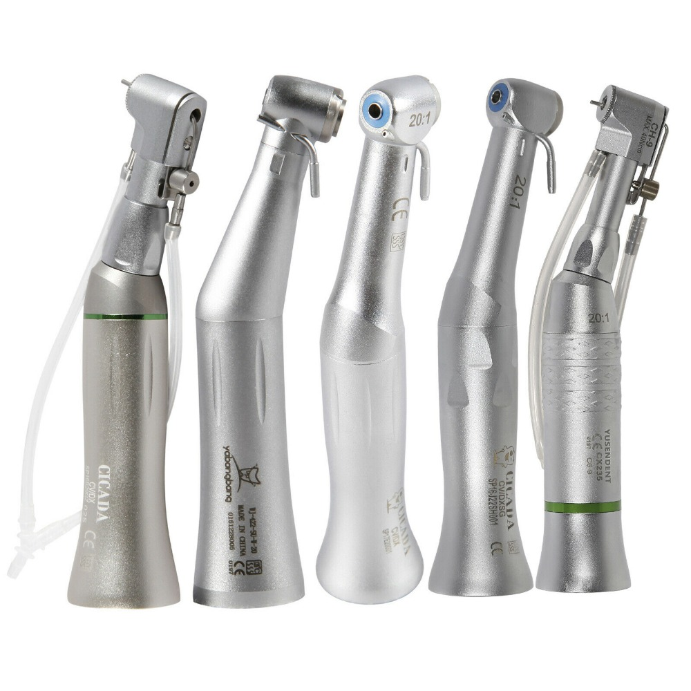 5 Types Dental 20:1 Reduction Implant Contra Angle Handpiece Low Speed5 Types Dental 20:1 Reduction Implant Contra Angle Handpiece Low Speed