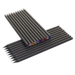 Image 4 - 10 adet HB elmas renkli kurşun kalem siyah dolum kırtasiye malzemeleri çizim malzemeleri sevimli ahşap kalem toptan