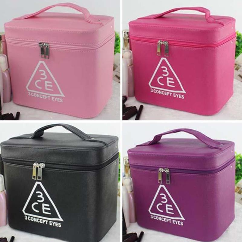1pc Korea style Large Capacity Cosmetic Bag Makeup Box Waterproof Washing Organizer Travel Collecting case L30