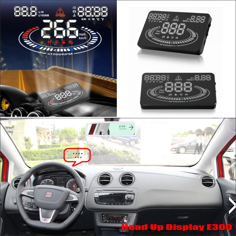Car Information Projector Screen For SEAT Ibiza 6L 6J SC MK3 MK4 2002~2014  Driving Refkecting Windshield HUD Head Up Display