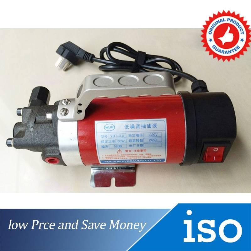 12V/24V/220V Cast Iron Mini 12V Gear Oil Pump 7.5L/min Lubricating Oil Pump