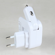 Eu standard conversion plug charger  2USB car Home mobile phone charging socket
