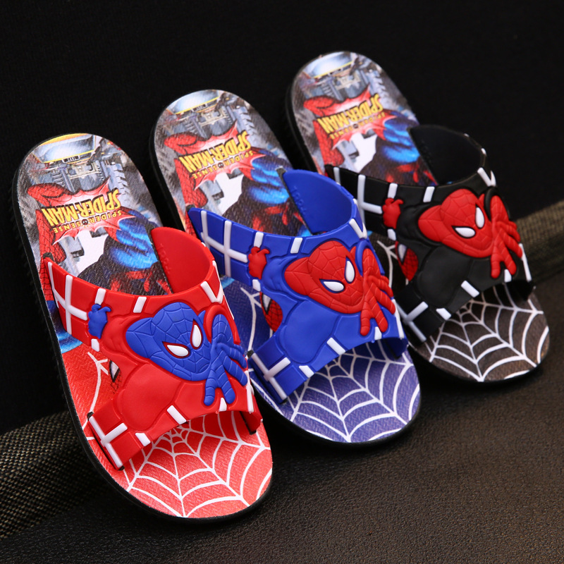 Beach Jelly Shoes with Spiderman detail Boys Swimming