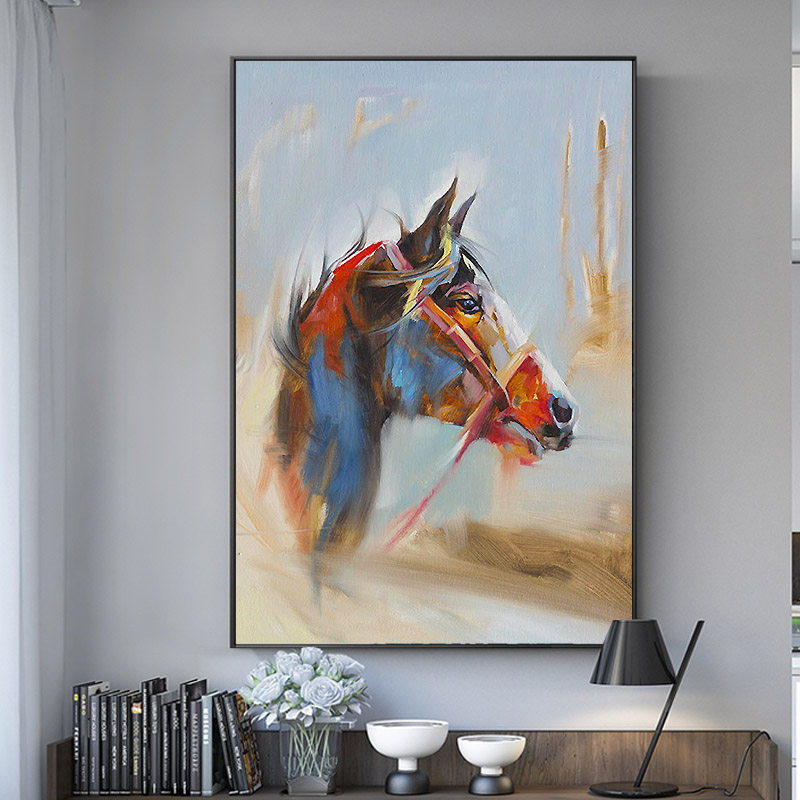 100 Hand Painted Abstract Horse 39 Head Art Oil Painting On Canvas Wall Art Wall Adornment picture For Living Room Home Decoration in Painting amp Calligraphy from Home amp Garden
