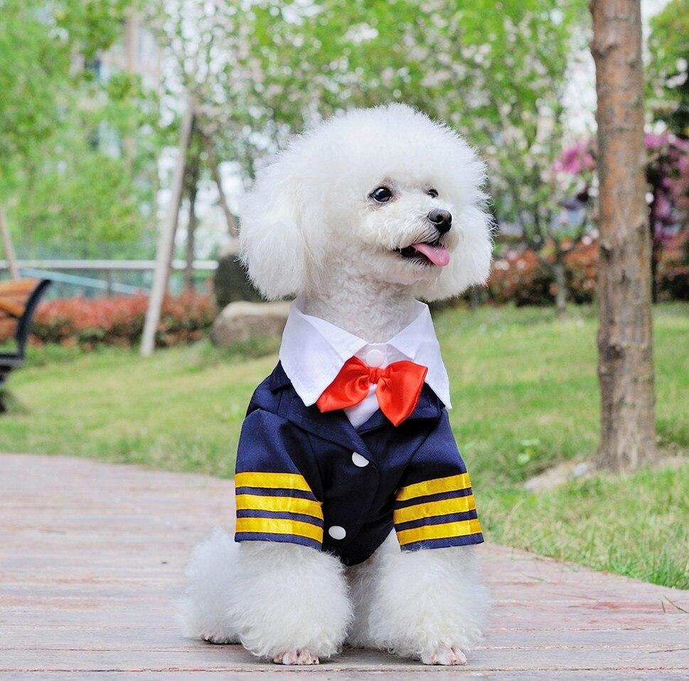Dark Blue Puppy Dog Navy Suit Tuxedo Suit Dog Wedding Coat W ...