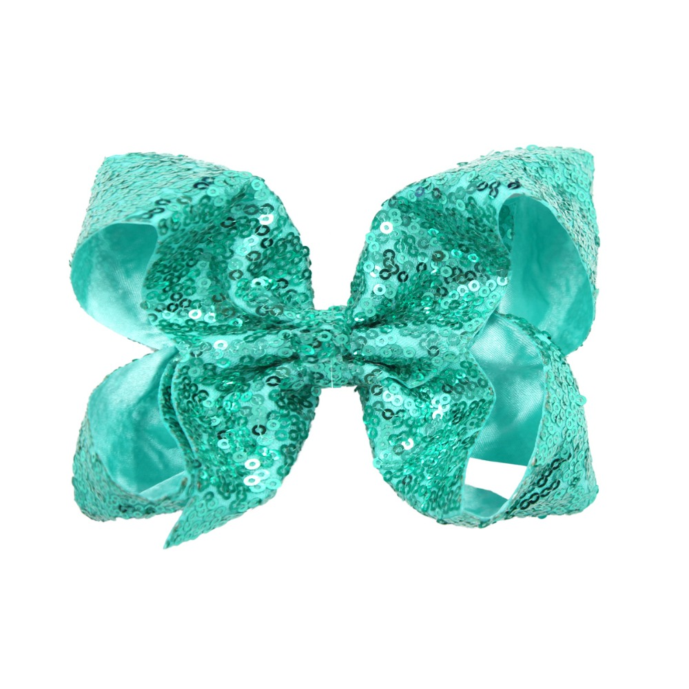 Image 3 - 15Pcs 6 Inches Big Bows for Baby Girls Bling Sparkly Sequins Bow Clip Boutique Hair Bows For Girls Kids Children Women-in Hair Accessories from Mother & Kids
