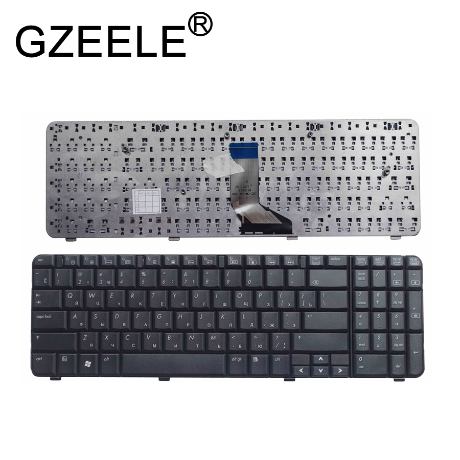 GZEELE RU Laptop Keyboard FOR HP Compaq Presario CQ61-400 CQ61z-300 CQ61Z-400 BLACK Russian Version