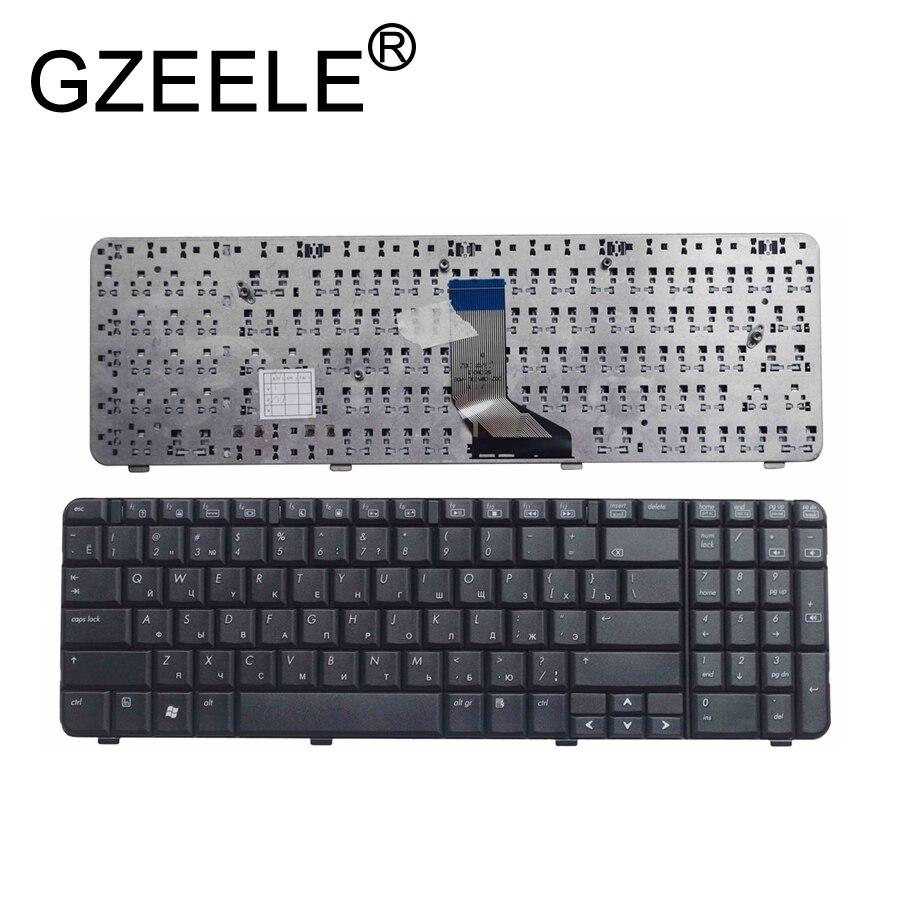Bilgisayar ve Ofis'ten Yedek Klavyeler'de GZEELE RU laptop klavye için HP Compaq Presario CQ61 400 CQ61z 300 CQ61Z 400 siyah rusça versiyonu