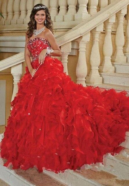 Burgundy quinceanera dresses Sweet 16 dresses vestido 15 anos vestidos de  quinceanera gowns robe de bal quinceanera dress red 0914c37c2874