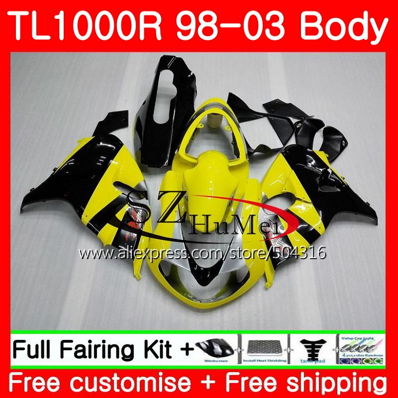 Motorcycle Accessories & Parts Responsible Body For Suzuki Tl1000 R Tl 1000 R Tl1000r 98 99 00 01 02 03 41sh19 Tl 1000r 1998 1999 2000 2001 2002 2003 Fairings Yellow Black Vivid And Great In Style