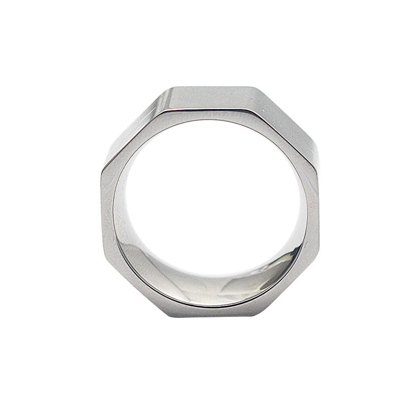 Nut Finger Ring roostevabast terasest ring naiste moe ehted ring - Mood ehteid - Foto 4